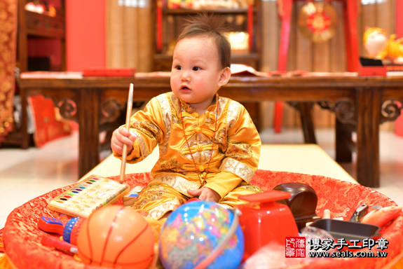 鳳山區楊寶寶古禮抓周:周歲抓周活動和儀式,一切圓滿。照片17