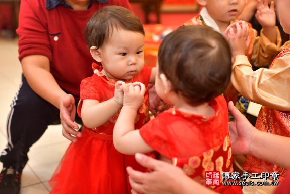 鳳山區陳寶寶古禮抓周:周歲抓周活動和儀式,一切圓滿。照片20