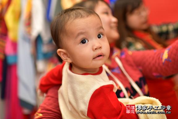 鳳山區梁寶寶古禮抓周:周歲抓周活動和儀式,一切圓滿。照片28
