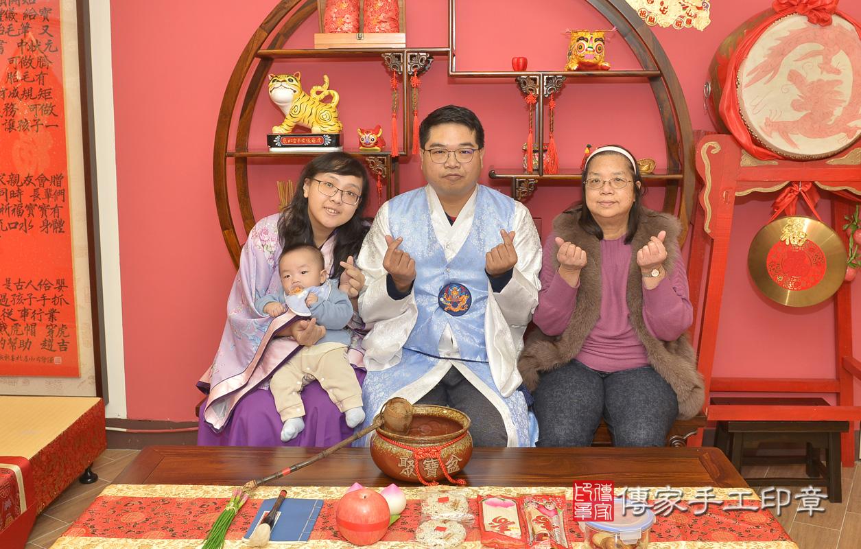 新北市永和區黃寶寶古禮收涎祝福活動。