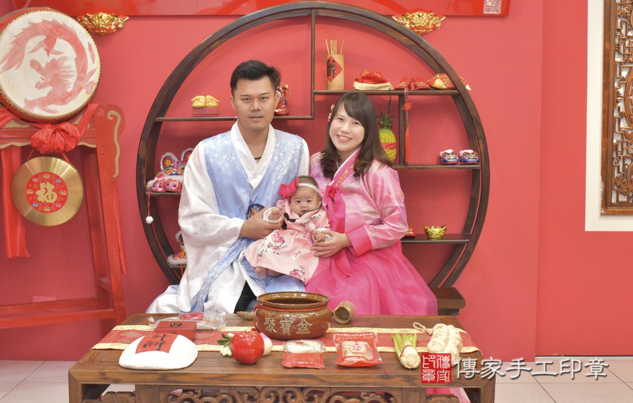 台中市北區盧寶寶收涎祝福活動:收涎合照1