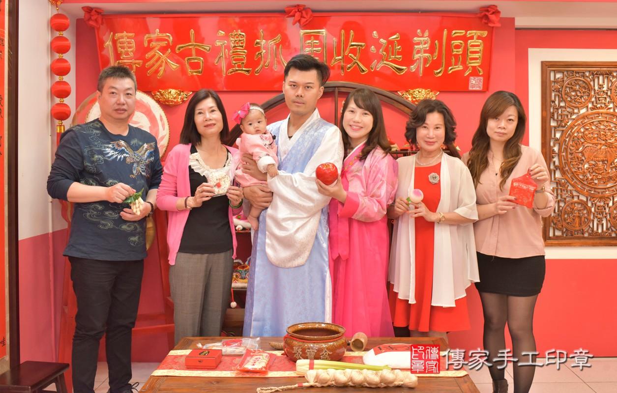 台中市北區盧寶寶古禮收涎祝福活動:收涎合照2