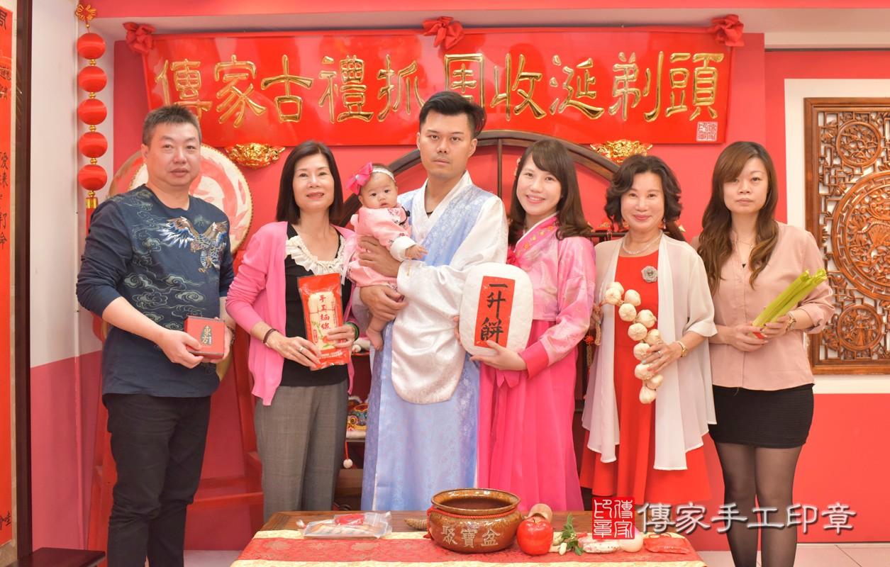 台中市北區盧寶寶古禮收涎祝福活動:收涎合照1