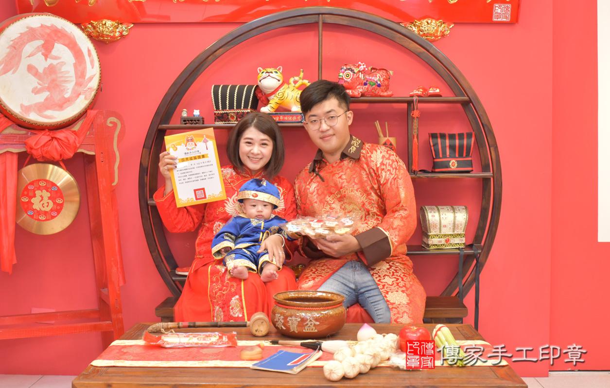 台中市北區楊寶寶古禮收涎祝福活動。收涎典故。照片1