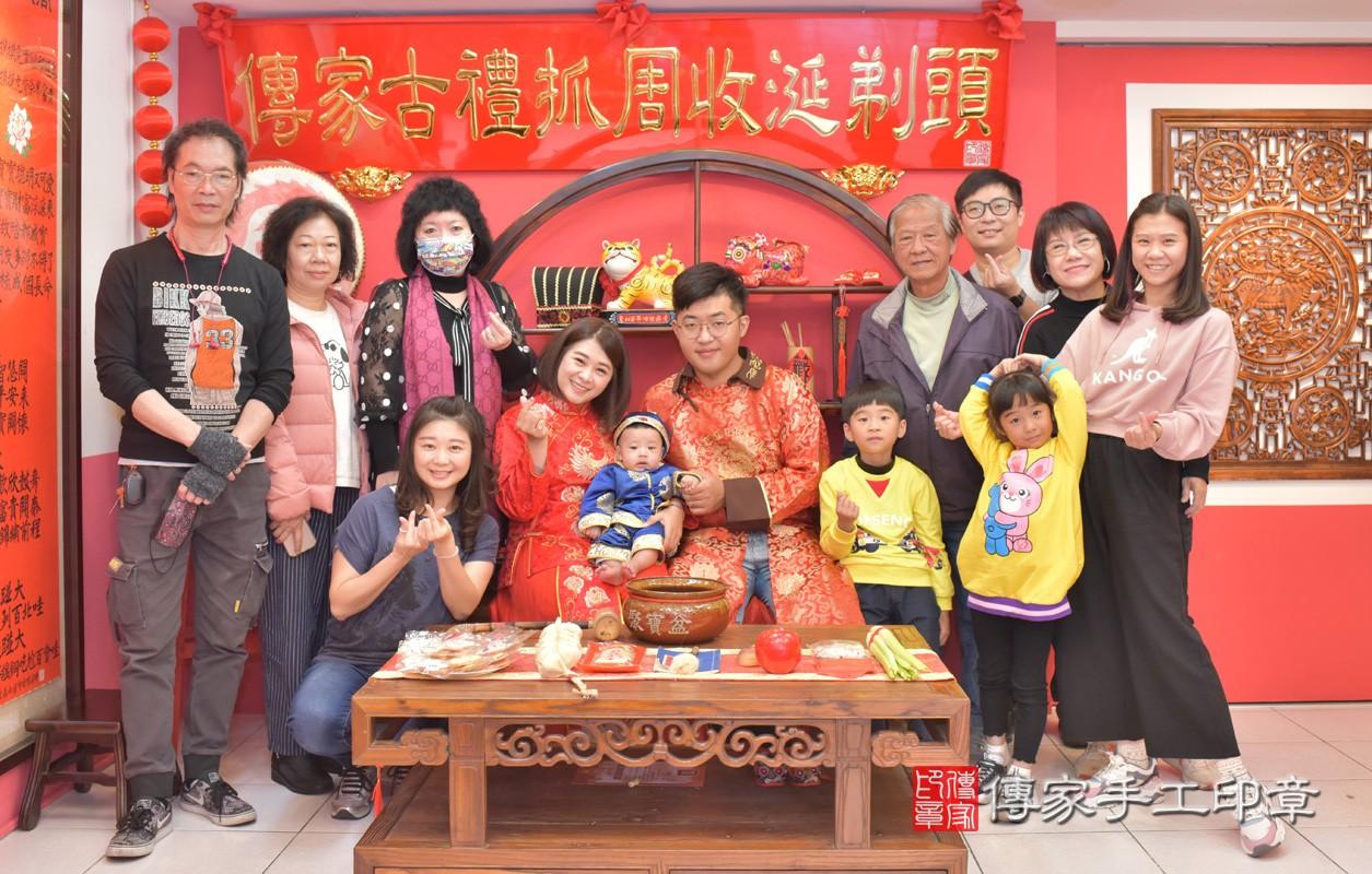 台中市北區楊寶寶古禮收涎祝福活動:收涎合照2