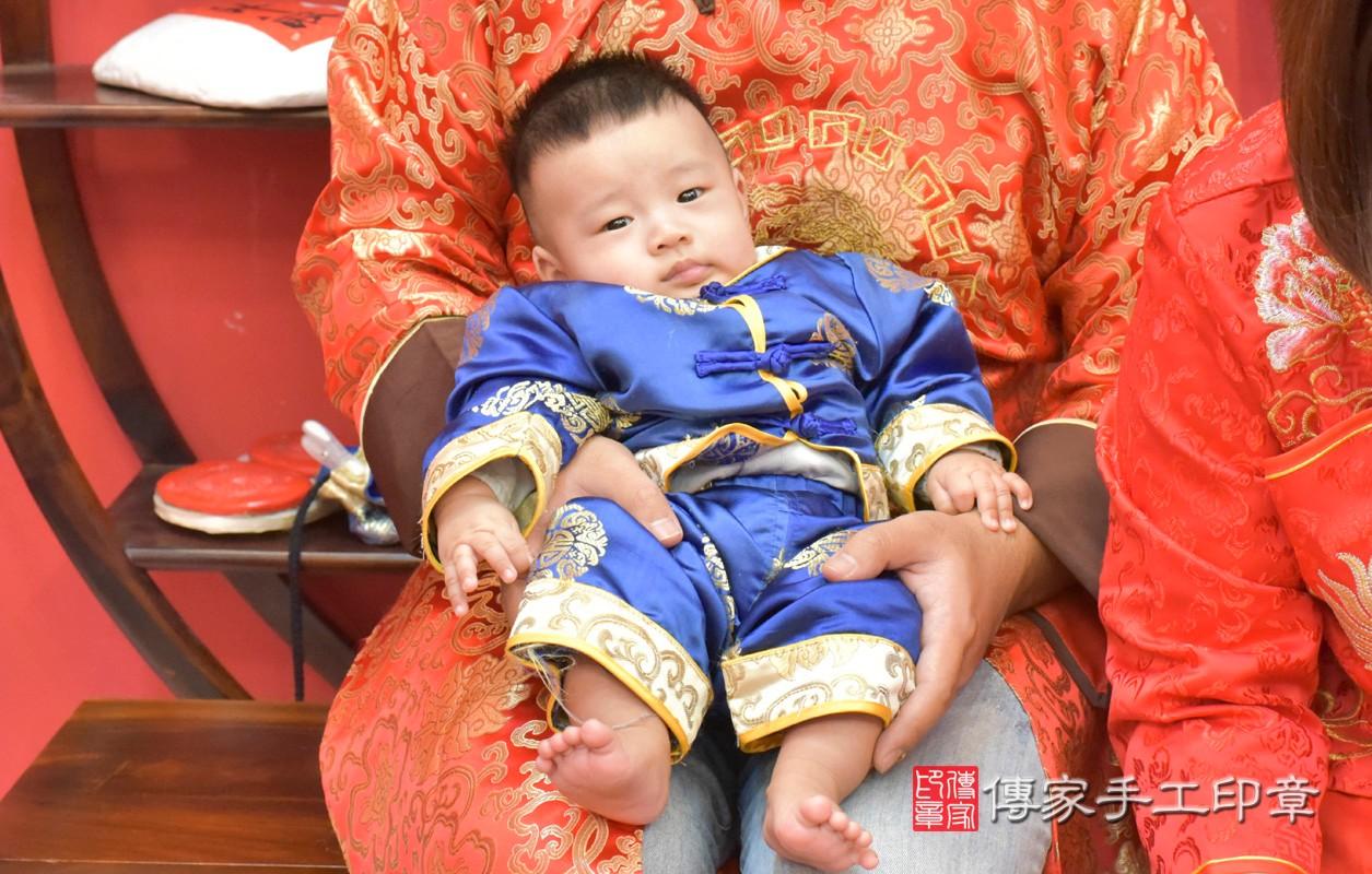 台中市北區楊寶寶古禮收涎祝福活動。四個月收涎活動和儀式,一切圓滿。照片1