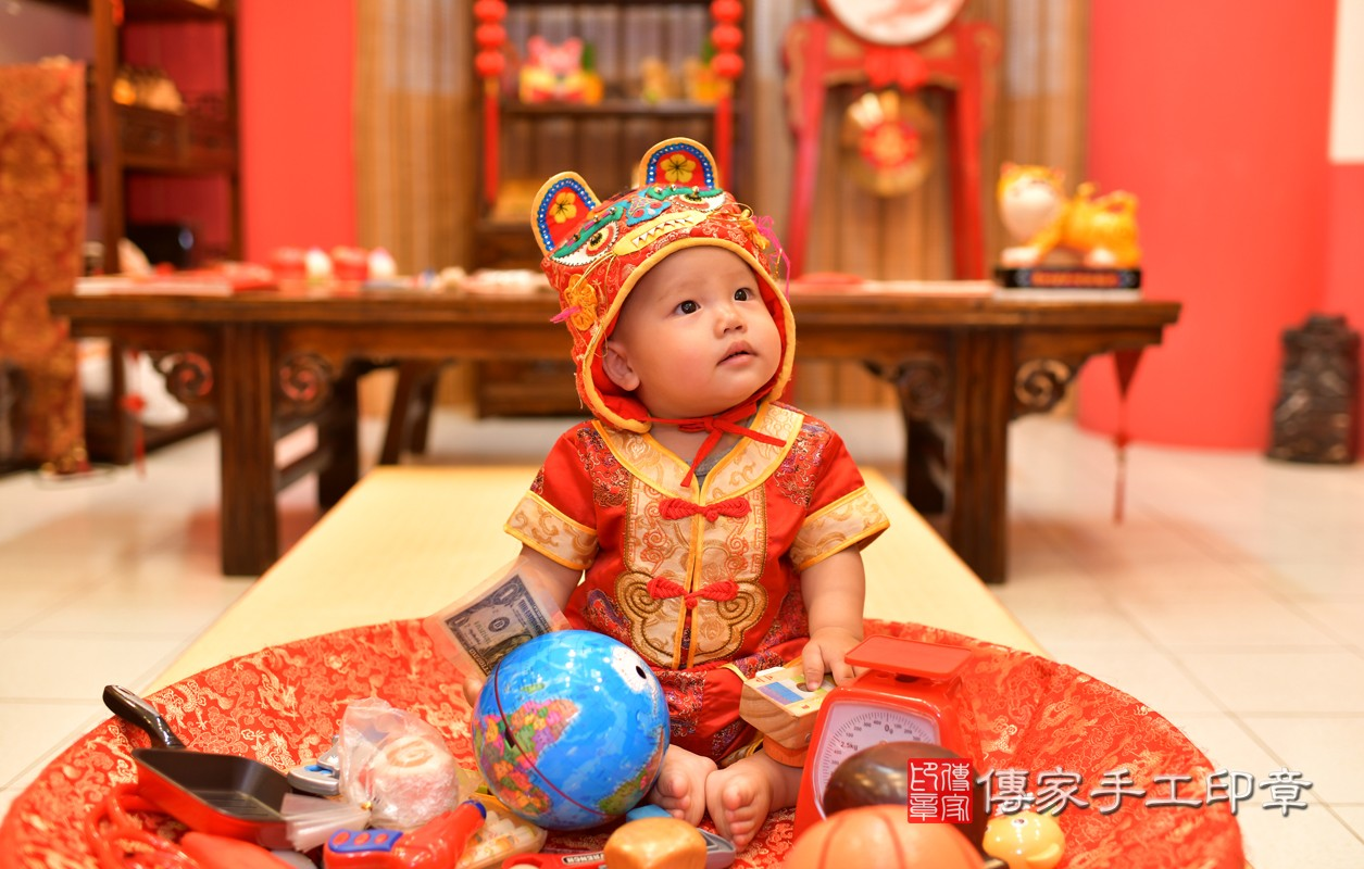 鳳山區陳寶寶古禮抓周:周歲抓周活動和儀式,一切圓滿。照片3