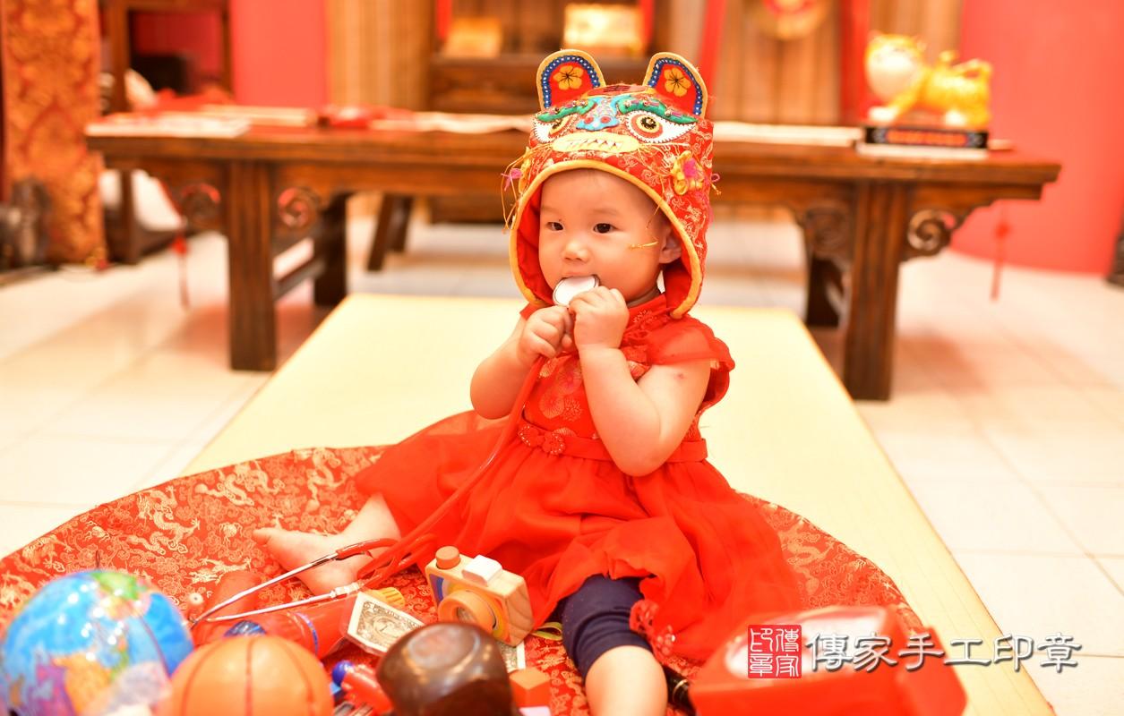 鳳山區莊寶寶古禮抓周:周歲抓周活動和儀式,一切圓滿。照片2