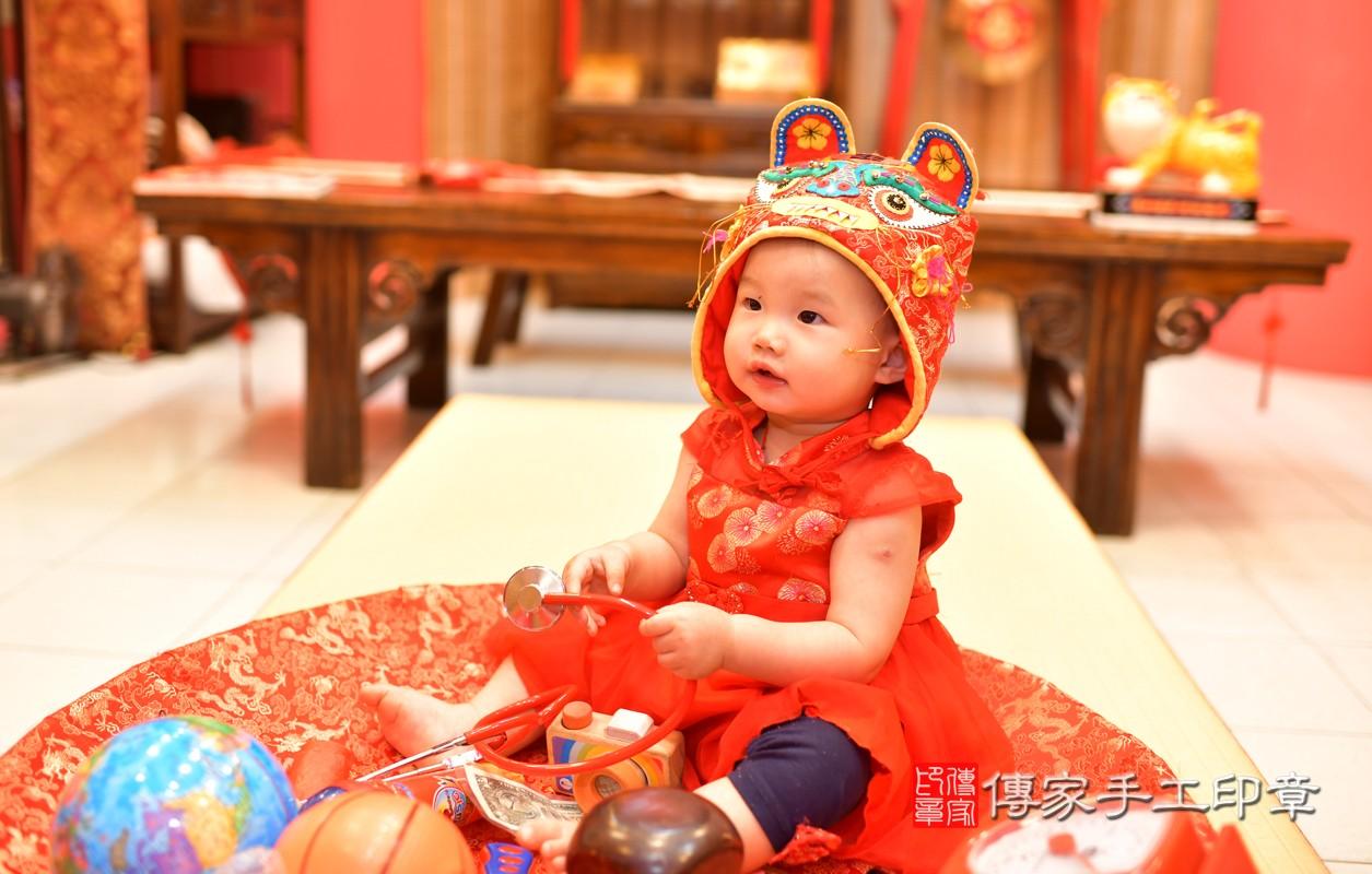 鳳山區莊寶寶古禮抓周:周歲抓周活動和儀式,一切圓滿。照片7