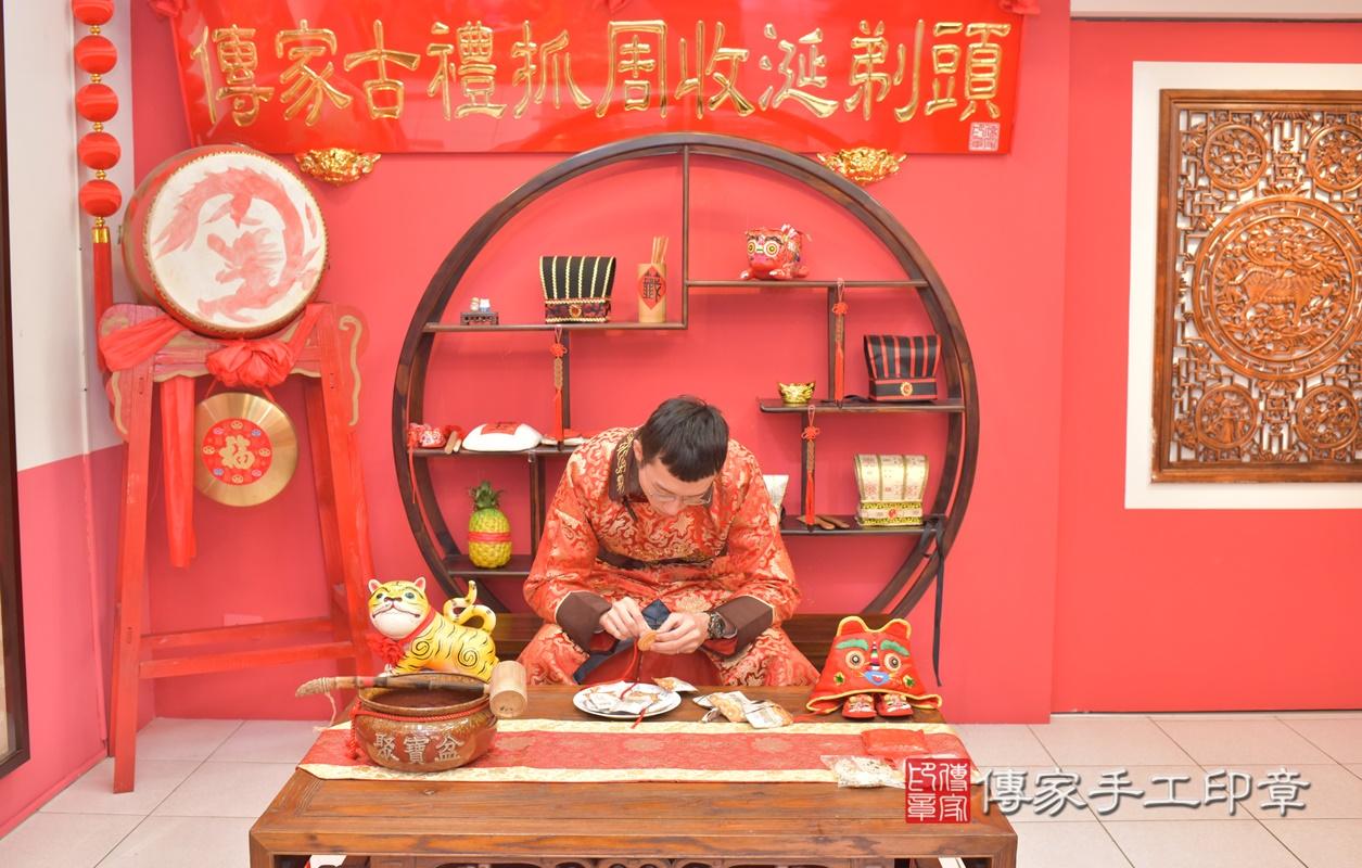台中市北區劉寶寶古禮收涎祝福活動。2021.01.18 照片25