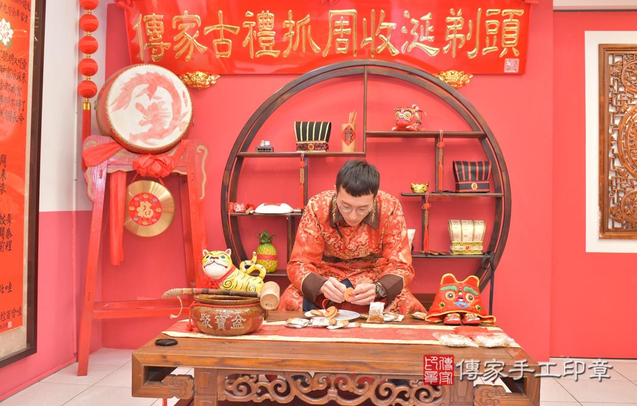 台中市北區劉寶寶古禮收涎祝福活動。2021.01.18 照片27