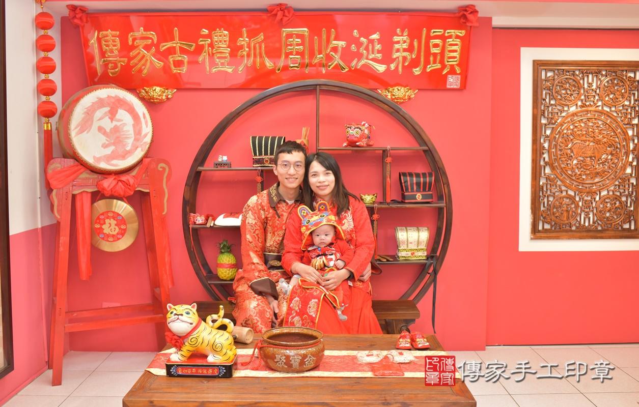 台中市北區劉寶寶古禮收涎祝福活動。2021.01.18 照片1