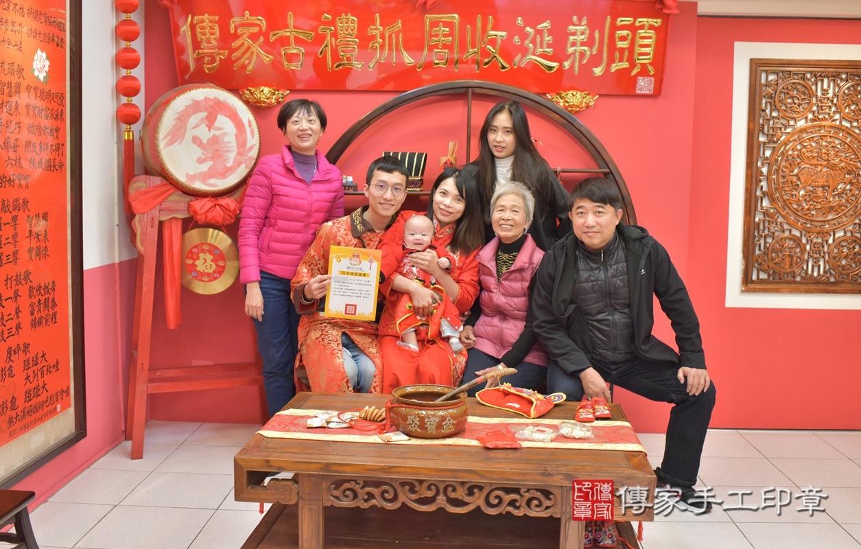 台中市北區劉寶寶古禮收涎祝福活動。2021.01.18 照片3