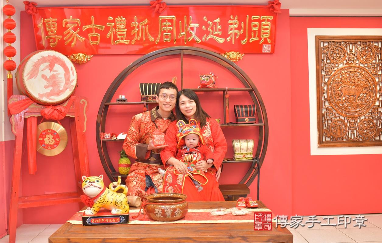 台中市北區劉寶寶古禮收涎祝福活動。2021.01.18 照片8