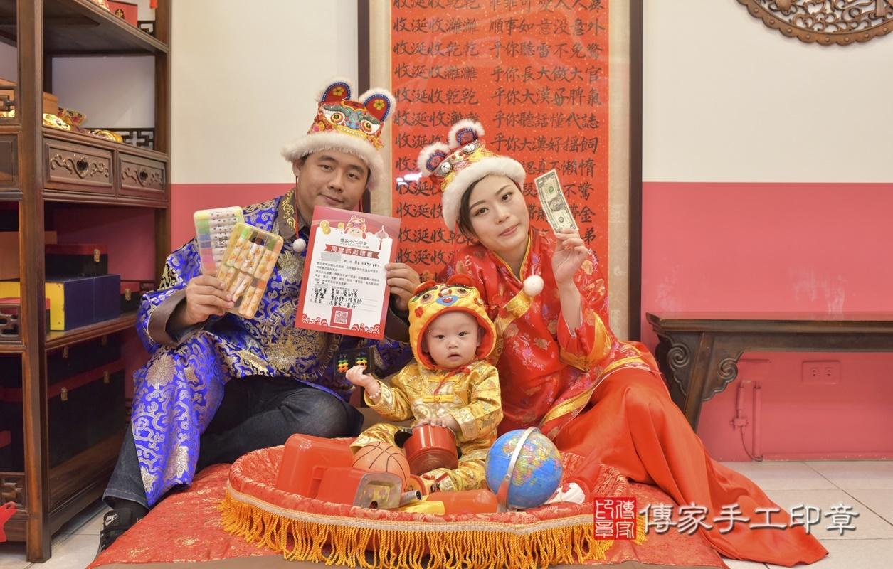 台中市北區陳寶寶古禮抓周祝福活動。2021.02.24 照片3