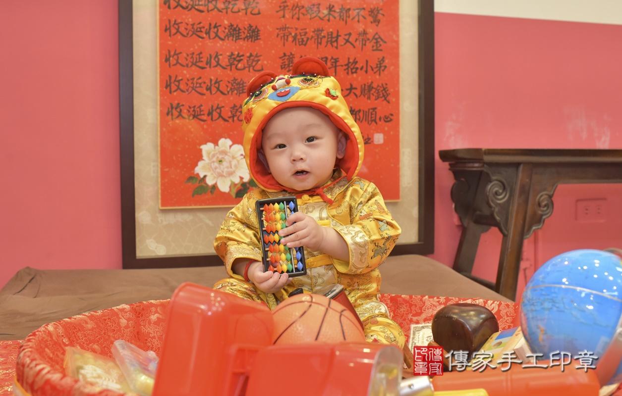 台中市北區陳寶寶古禮抓周祝福活動。2021.02.24 照片1