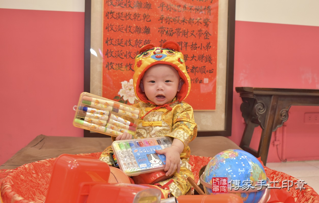 台中市北區陳寶寶古禮抓周祝福活動。2021.02.24 照片26