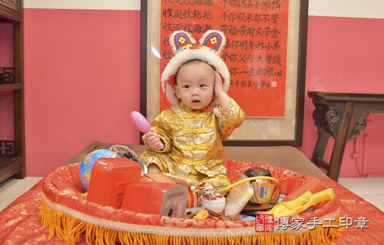 台中市北區陳寶寶古禮抓周祝福活動。2021.02.24 照片31