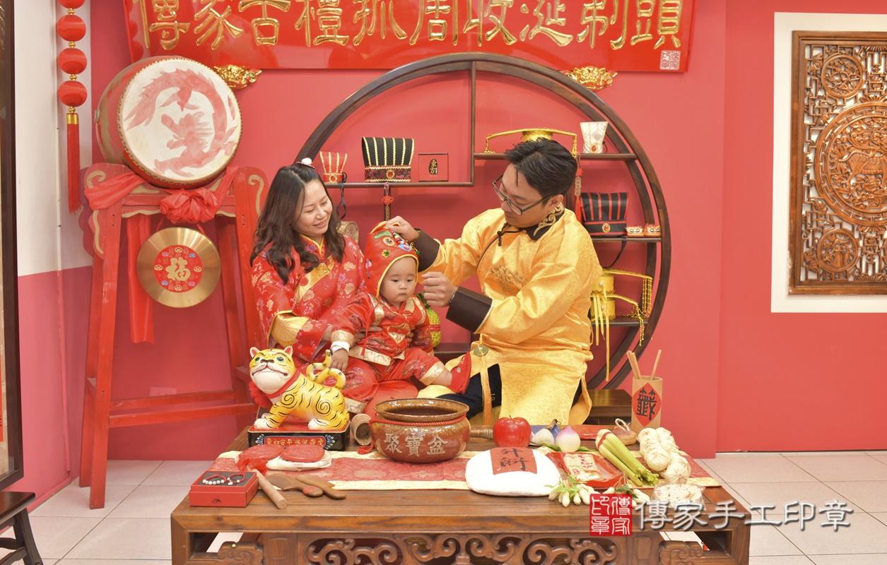 台中市北區吳寶寶古禮抓周祝福活動。2021.02.28 照片6