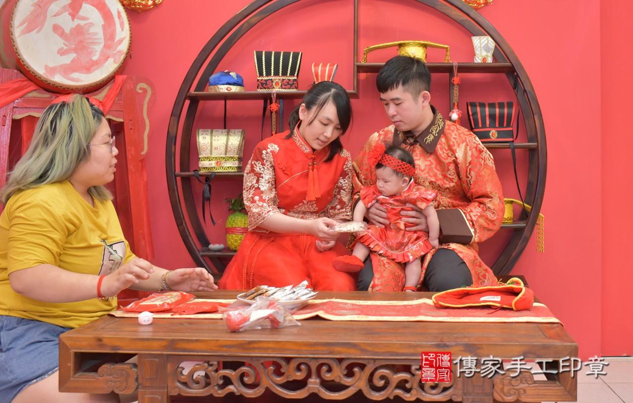 收涎儀式【吃米香】:讓寶寶口齒留香,做什麼事都吃香。  吃米香的收涎儀式,是讓孩子有好的人際關係,會說好話,做好事。