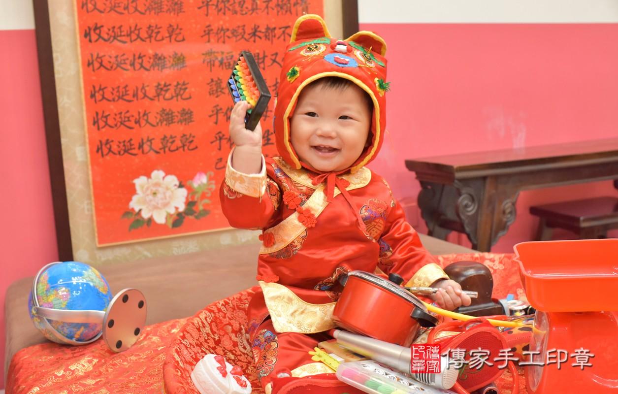 台中市北區王寶寶周歲抓周活動和儀式,一切圓滿。
