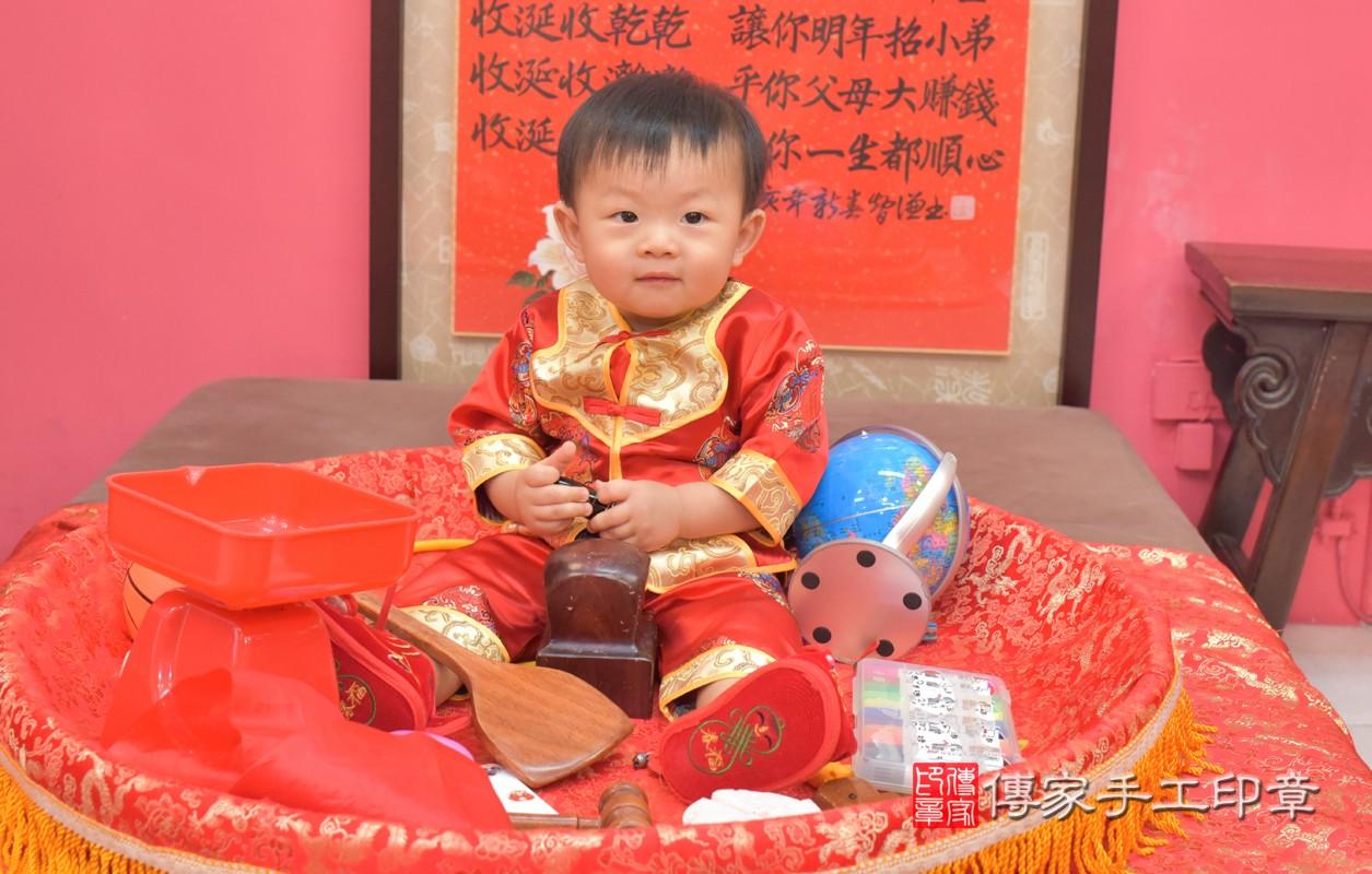 台中市北區林寶寶周歲抓周活動和儀式,一切圓滿