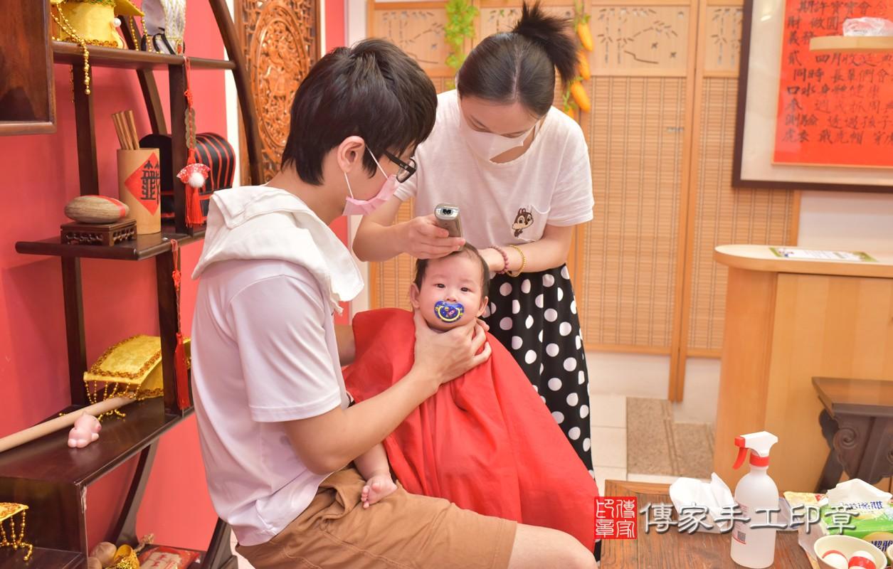 台中北區楊寶寶滿月理髮