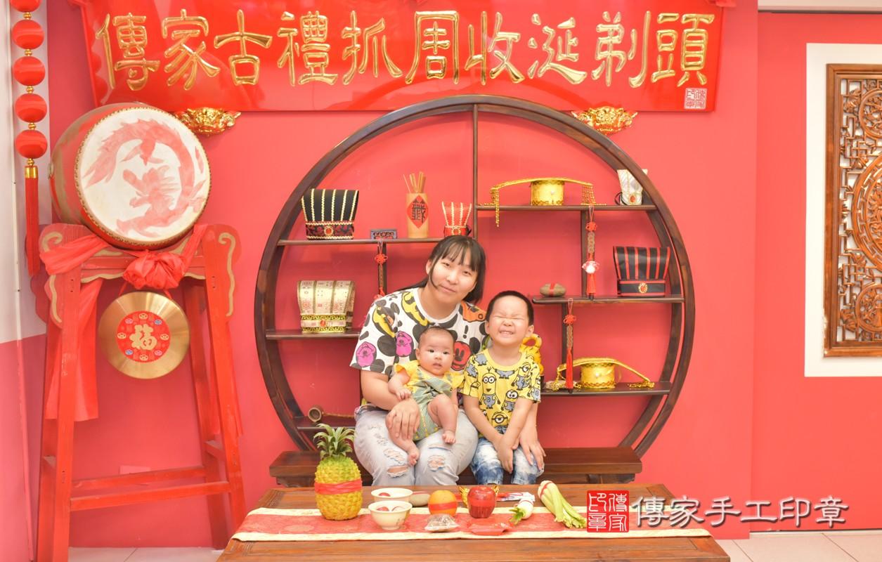 台中北區張寶寶滿月理髮