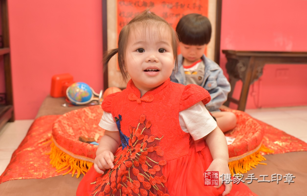 台中市北區黃寶寶古禮抓周祝福活動。2021.04.04 照片1