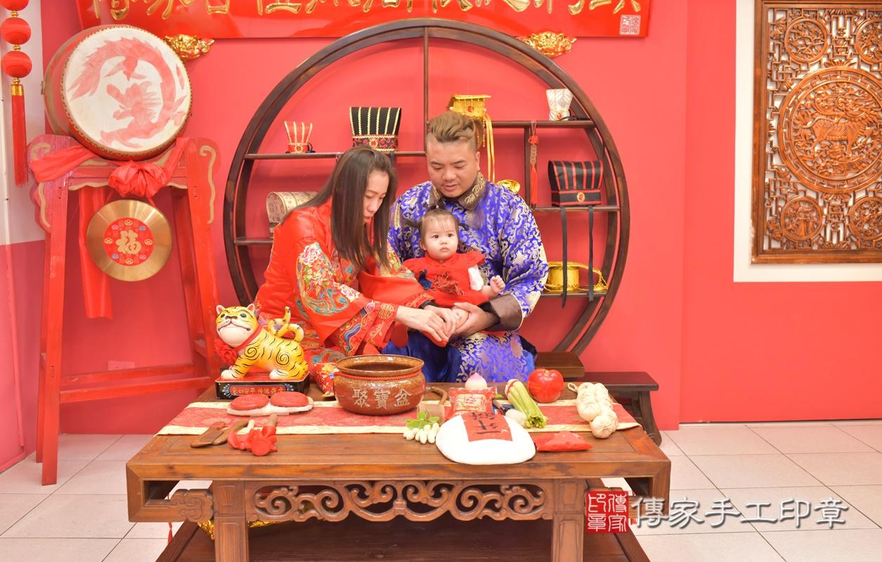 台中市北區黃寶寶古禮抓周祝福活動。2021.04.04 照片8