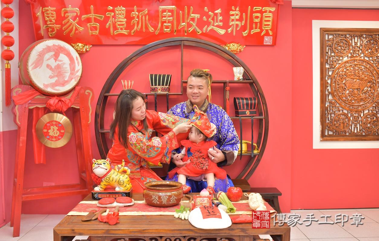 台中市北區黃寶寶古禮抓周祝福活動。2021.04.04 照片9