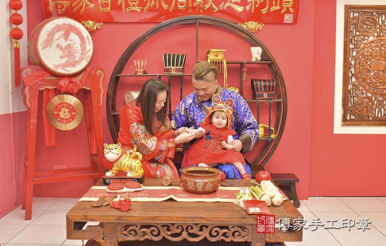 台中市北區黃寶寶古禮抓周祝福活動。2021.04.04 照片10