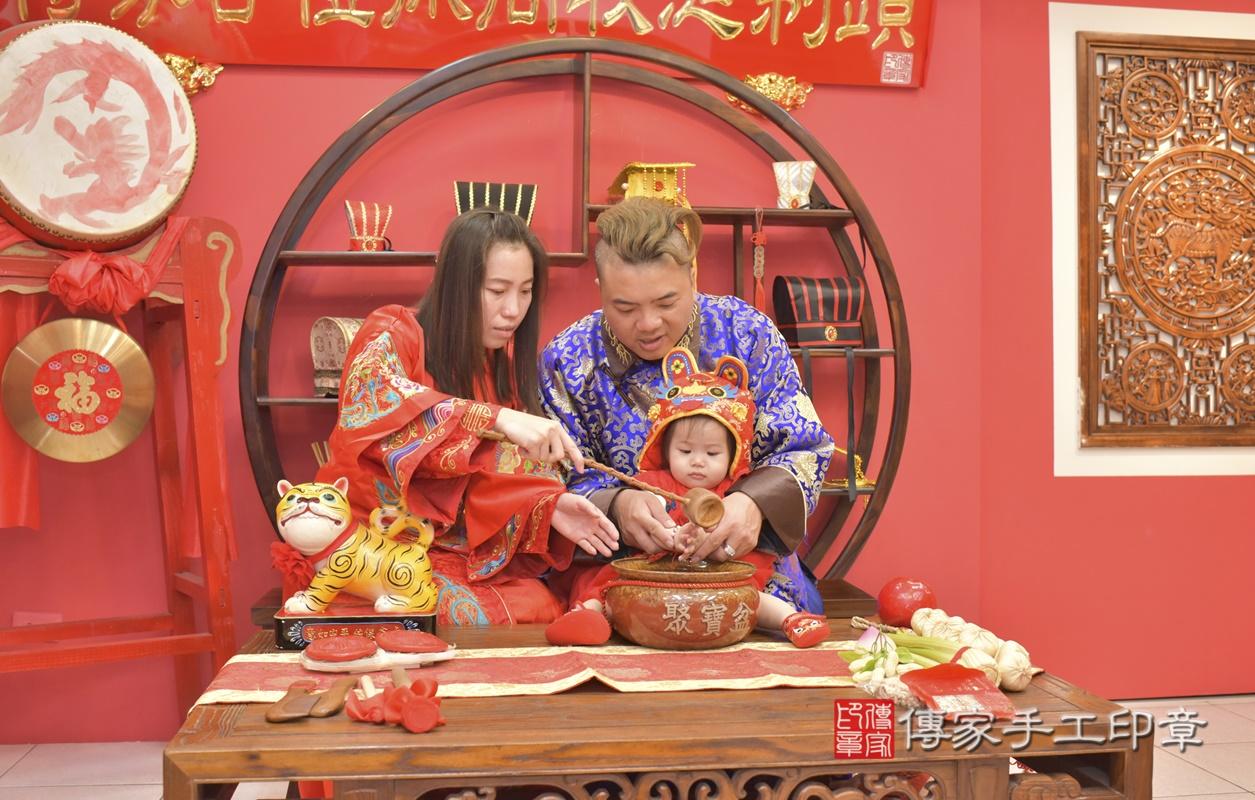 台中市北區黃寶寶古禮抓周祝福活動。2021.04.04 照片11