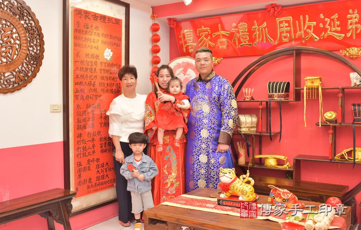 台中市北區黃寶寶古禮抓周祝福活動。2021.04.04 照片13