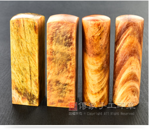 琥珀檀香木印章材質