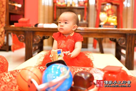 鳳山區林寶寶古禮抓周:周歲抓周活動和儀式,一切圓滿。照片27