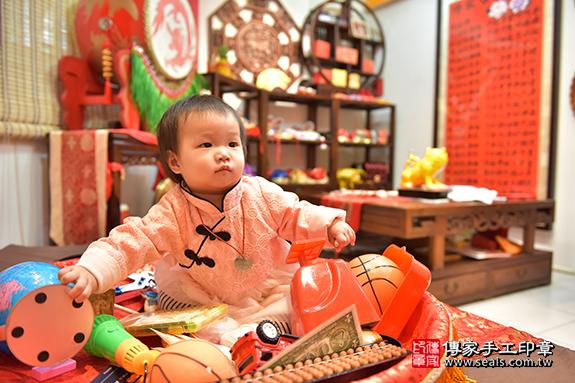 新竹市香山區劉寶寶古禮抓周祝福活動。照片2