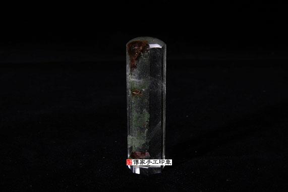 頂級巴西綠幽靈水晶(八卦招財造型):開運印章、臍帶印章 圖片2