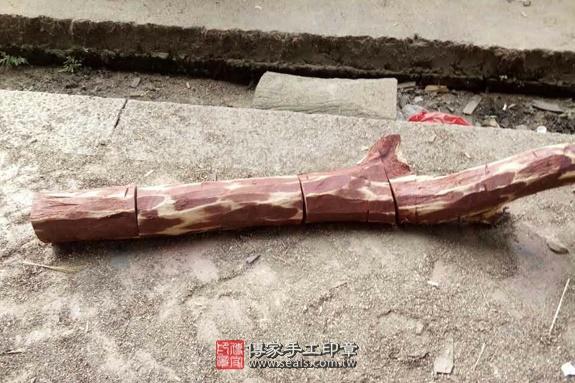 雞血紅木的原木照片2